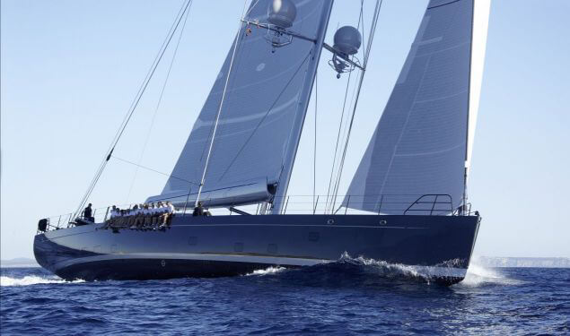 Crew on sailing yacht with yacht interior for comfort, luxury and function by bsw yachteinrichter